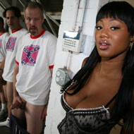 busty ebony gets gangbanged and bukkaked by several rednecks from CumBang